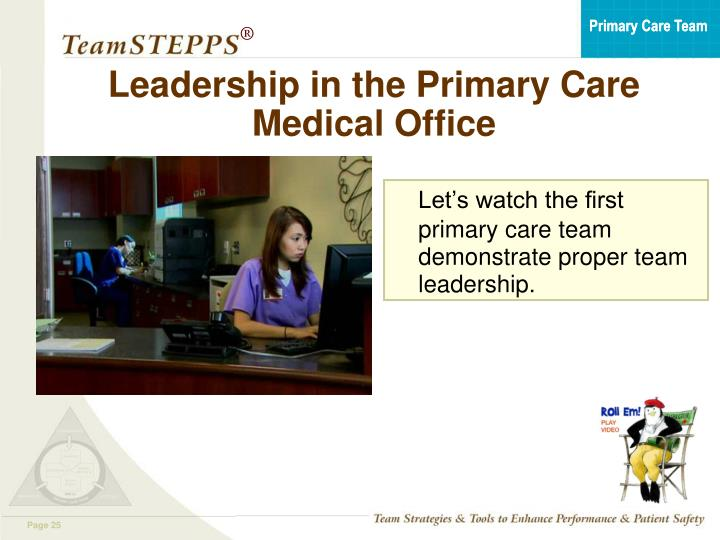 Leadership in the Primary Care Medical Office