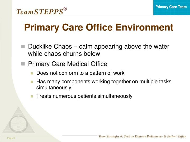 Primary Care Office Environment