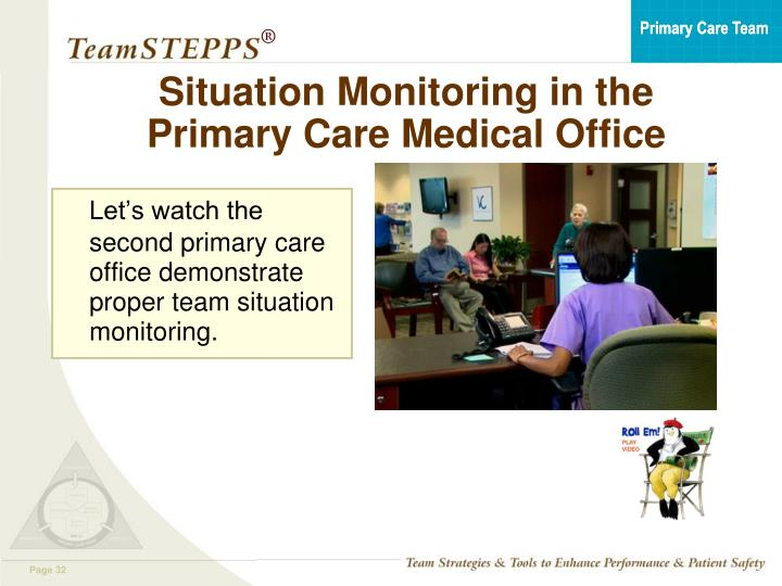 Situation Monitoring in the Primary Care Medical Office