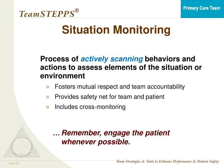 Situation Monitoring