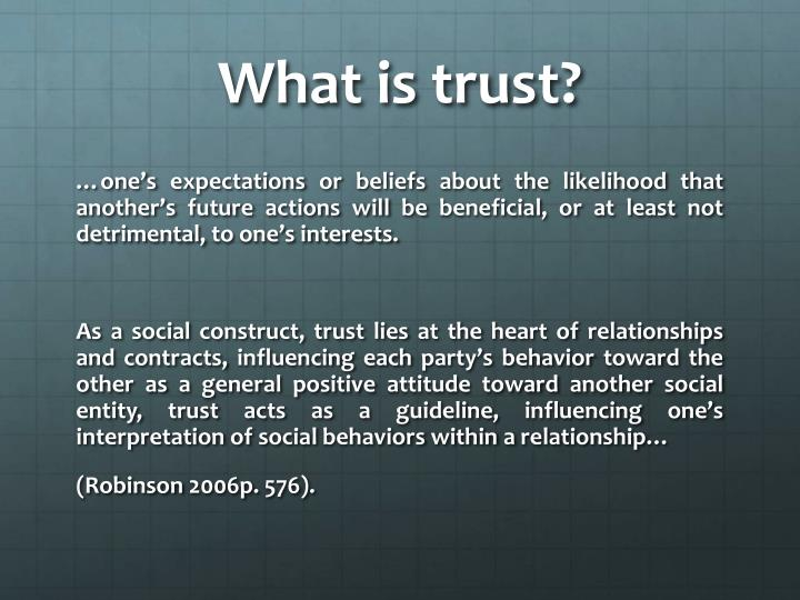 What is trust?