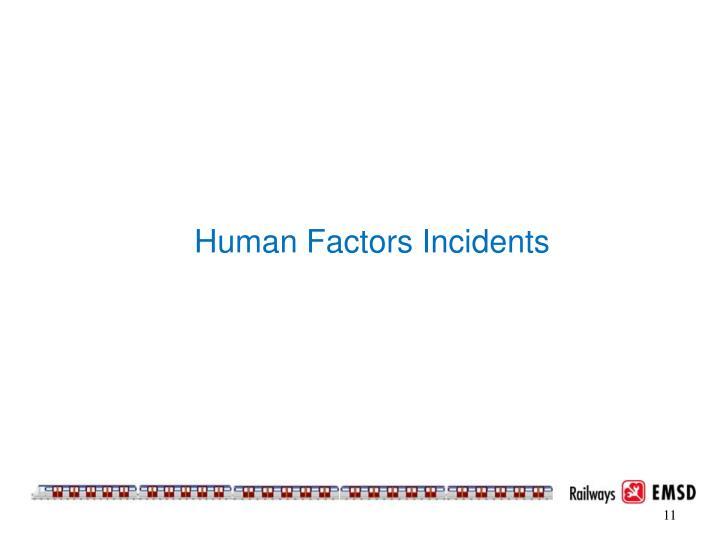 Human Factors Incidents