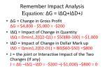 remember impact analysis equation g i q i d j1