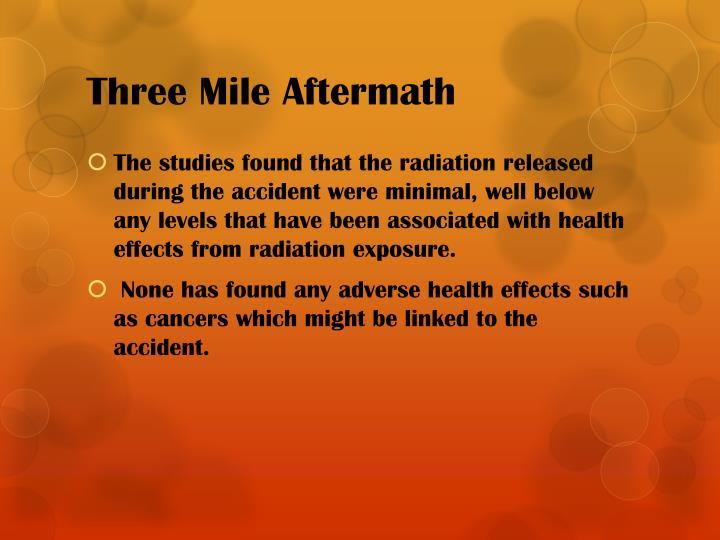 Three Mile Aftermath