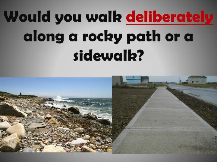 Would you walk