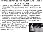 oleanna staged at the royal court theatre london in 1993