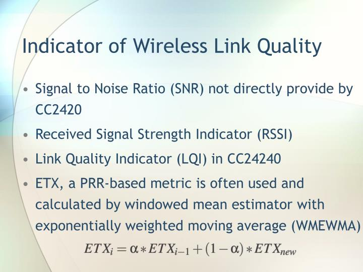 Indicator of Wireless Link