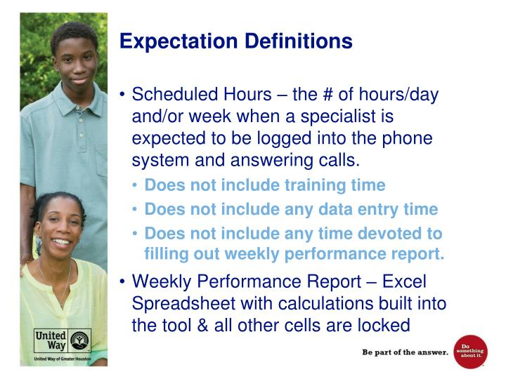 Expectation Definitions