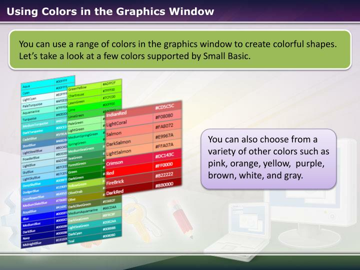 Using Colors in the Graphics Window