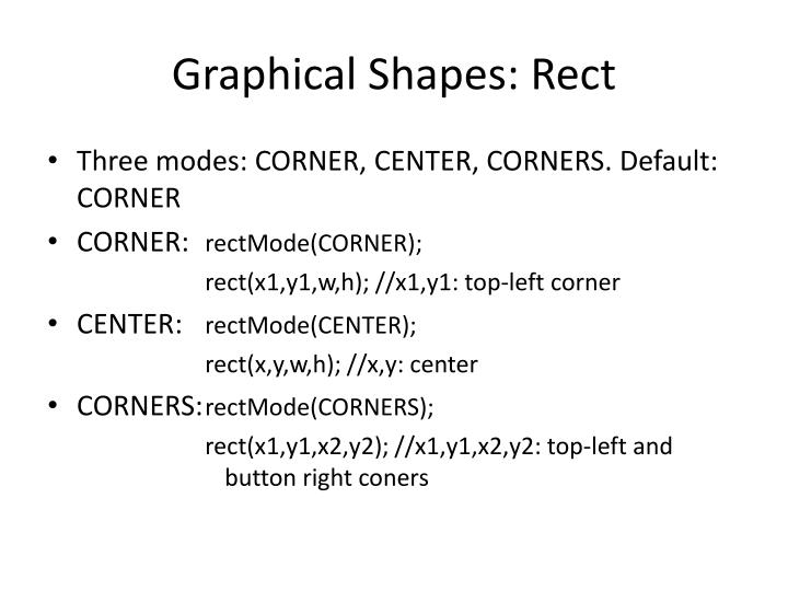 Graphical Shapes:
