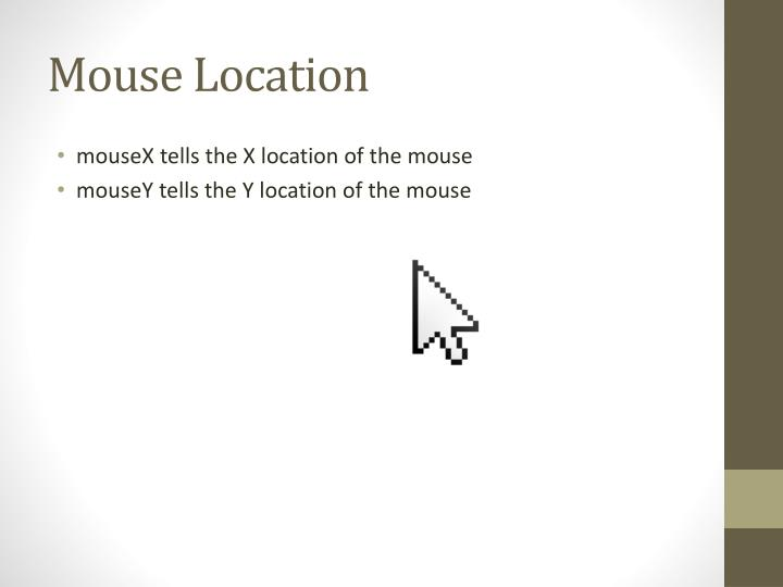 Mouse location