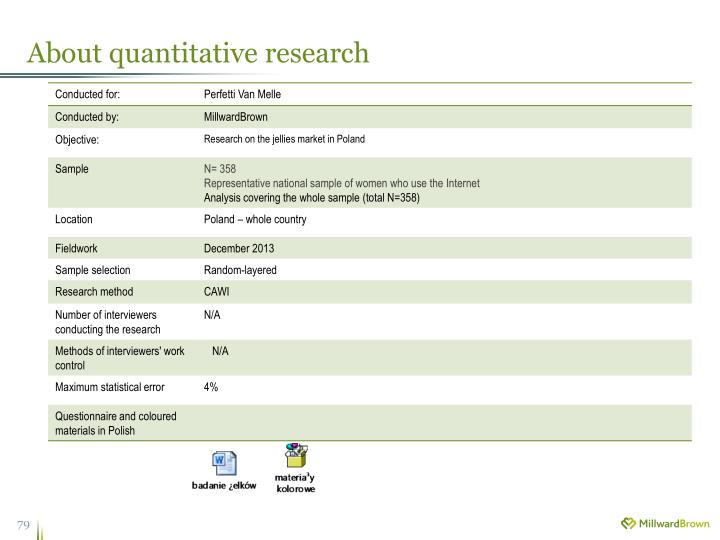 About quantitative research