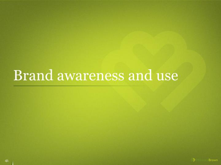 Brand awareness and use