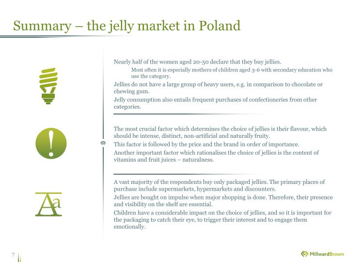 Summary – the jelly market in Poland