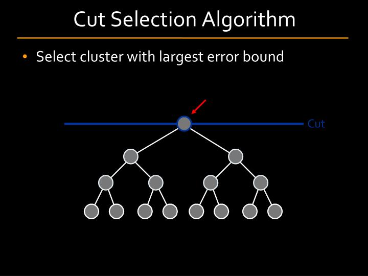 Cut Selection Algorithm
