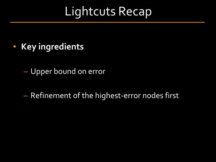 Lightcuts Recap