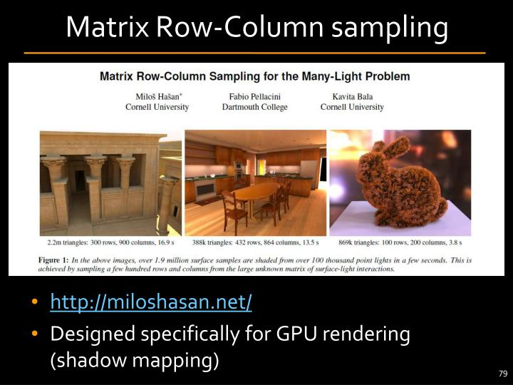 Matrix Row-Column sampling
