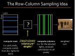 the row column sampling idea