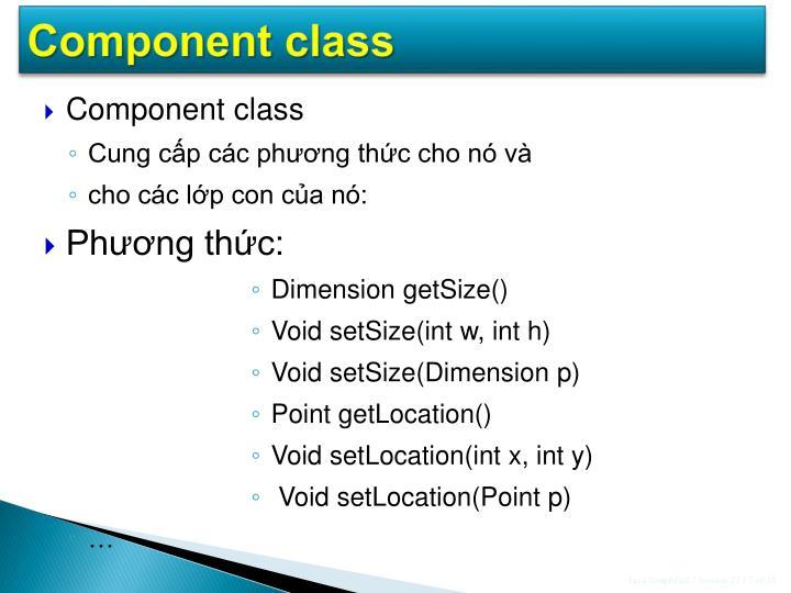 Component class