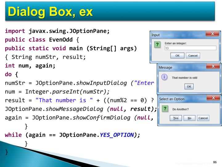 Dialog Box, ex