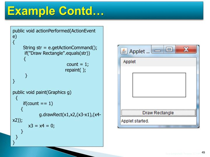 Example Contd…