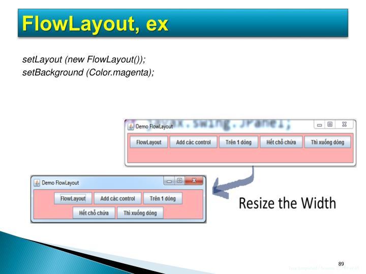 FlowLayout, ex