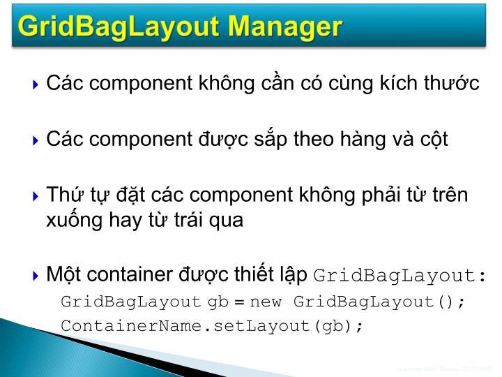 GridBagLayout Manager