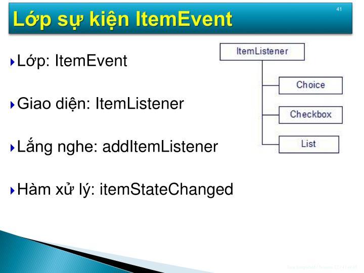 Lớp sự kiện ItemEvent