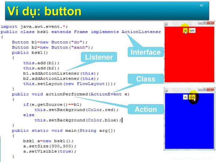 Ví dụ: button
