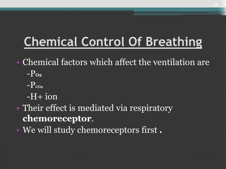 Chemical Control Of Breathing