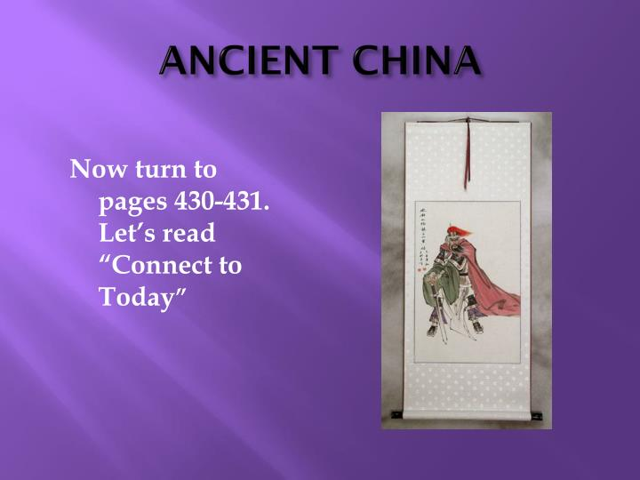 ANCIENT CHINA