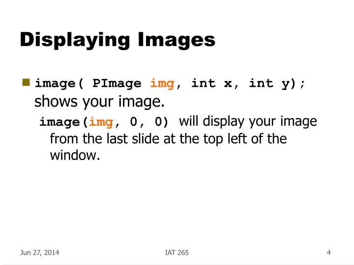 Displaying Images