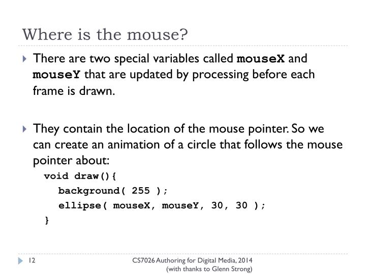Where is the mouse?