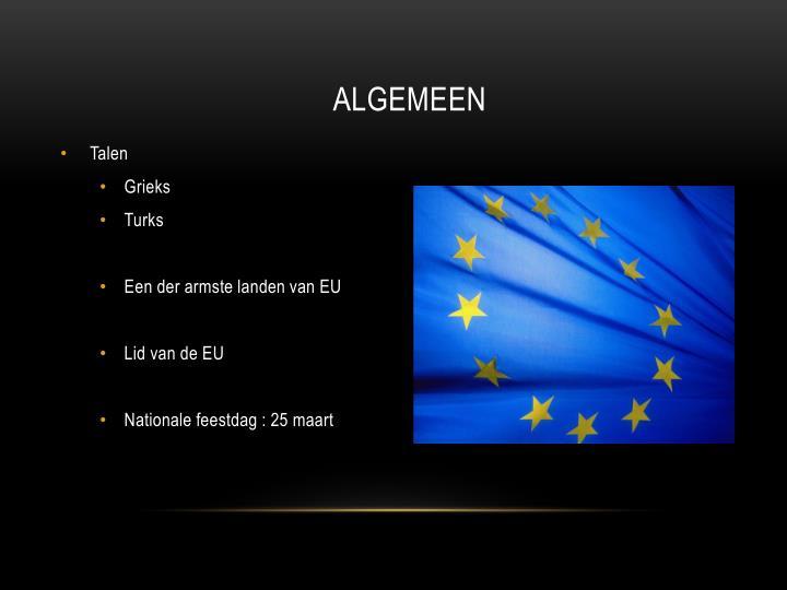 ALGEMEEN