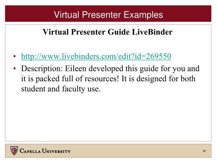 Virtual Presenter Examples