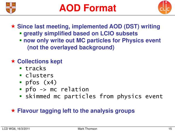 AOD Format
