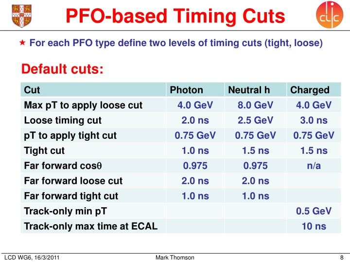 PFO-based Timing Cuts