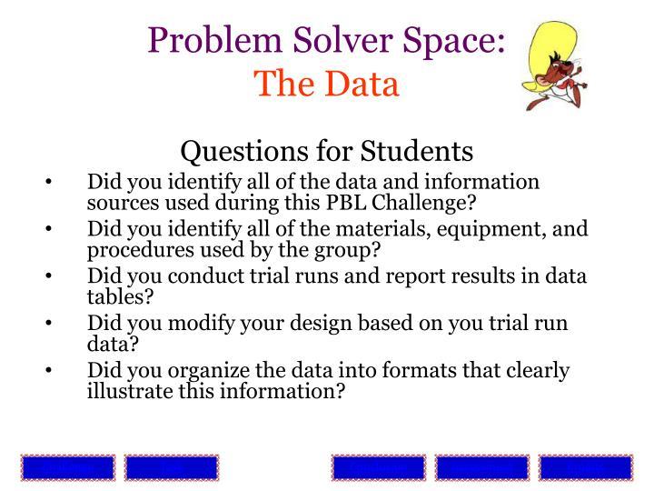Problem Solver Space:
