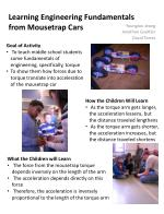 learning engineering fundamentals from mousetrap cars