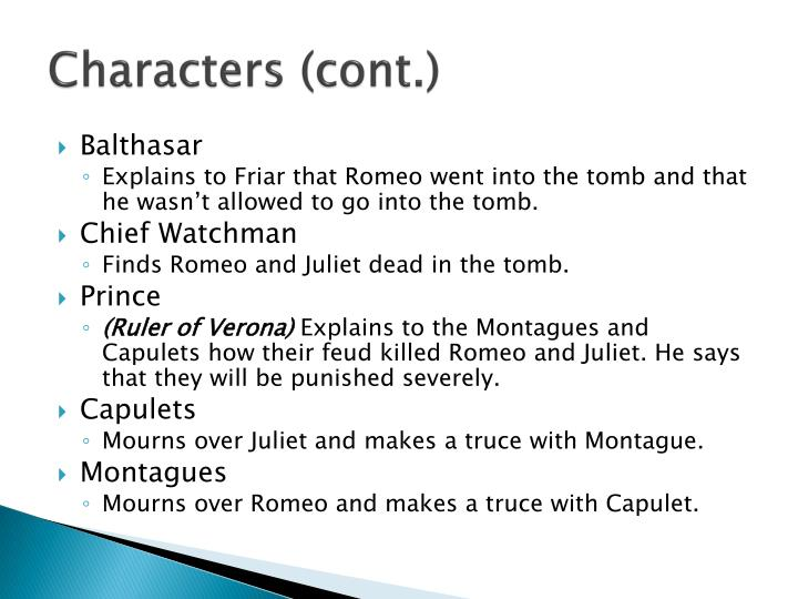 Characters (cont.)