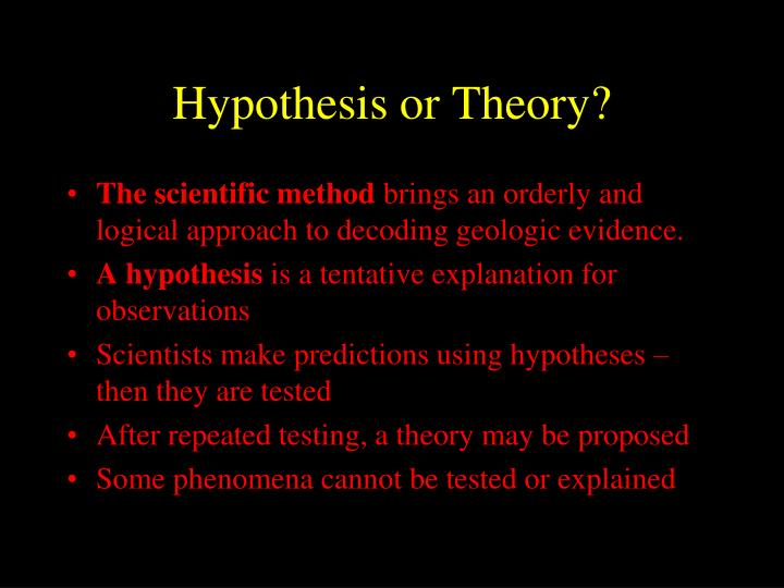 Hypothesis or Theory?
