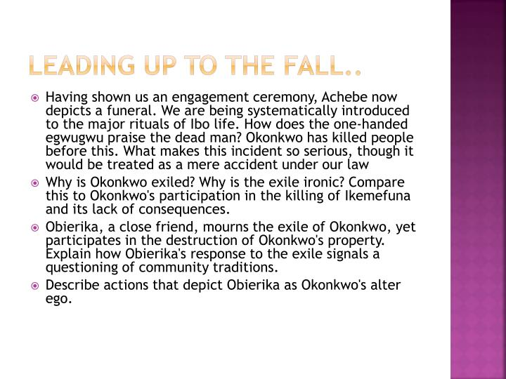 Leading up to the fall..
