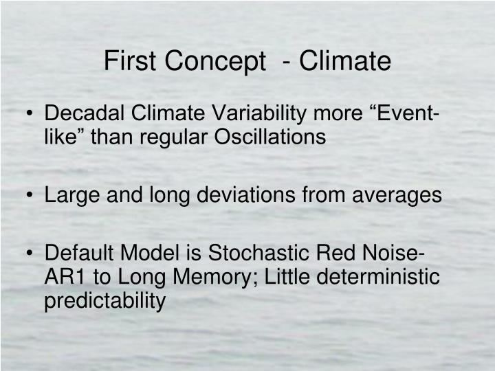 First concept climate