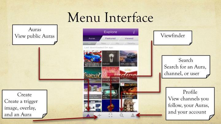 Menu Interface