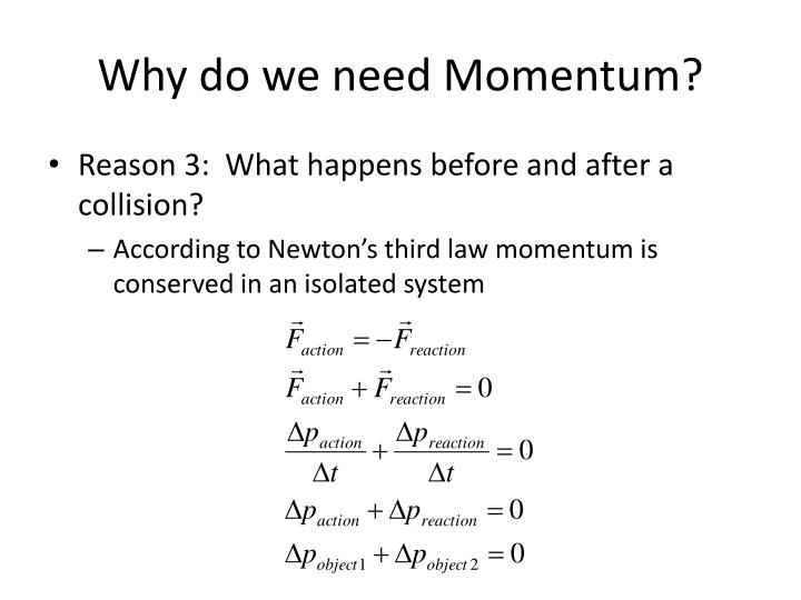 Why do we need Momentum?