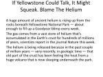 if yellowstone could talk it might squeak blame the helium