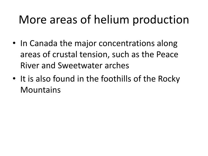 More areas of helium production
