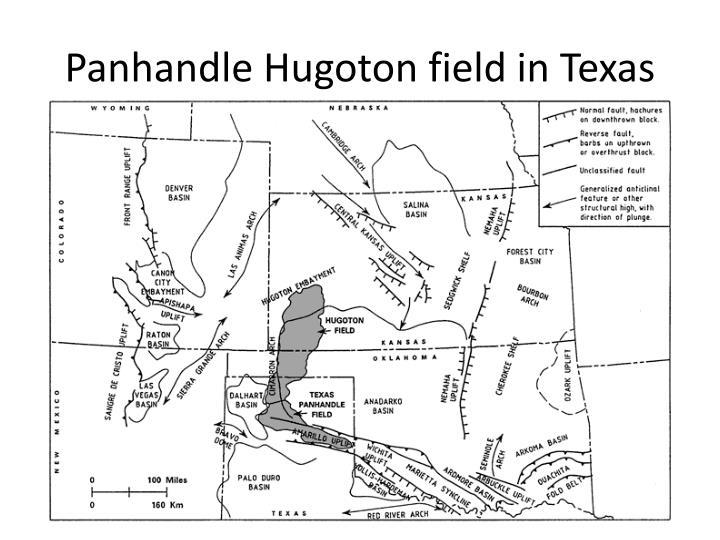Panhandle Hugoton field in Texas