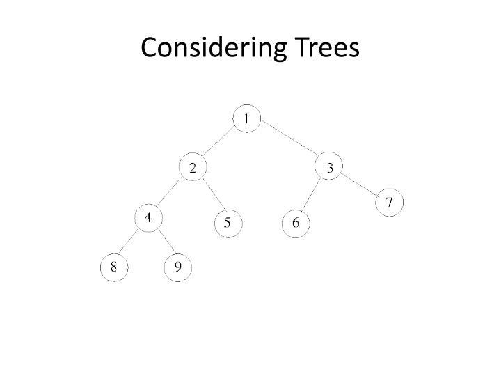Considering Trees