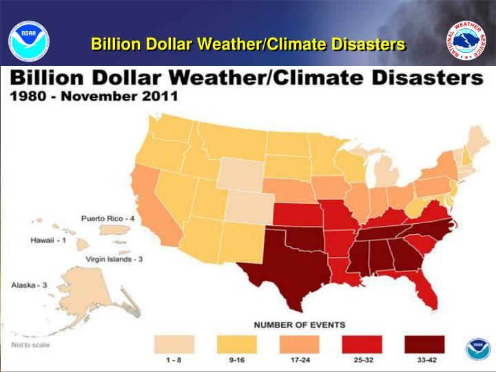 Billion Dollar Weather/Climate Disasters